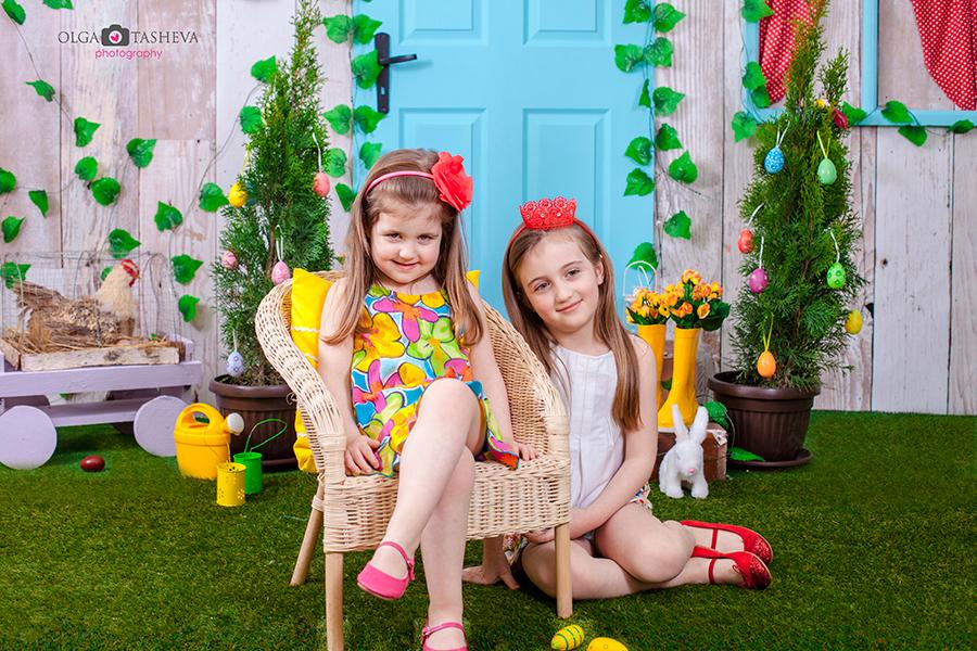 Детска фотосесия на Рома и Джиджи при фотограф Олга Ташева. Фото студио Варна. Детска, бебешка и семейна фотография. Фотограф Варна - 45578