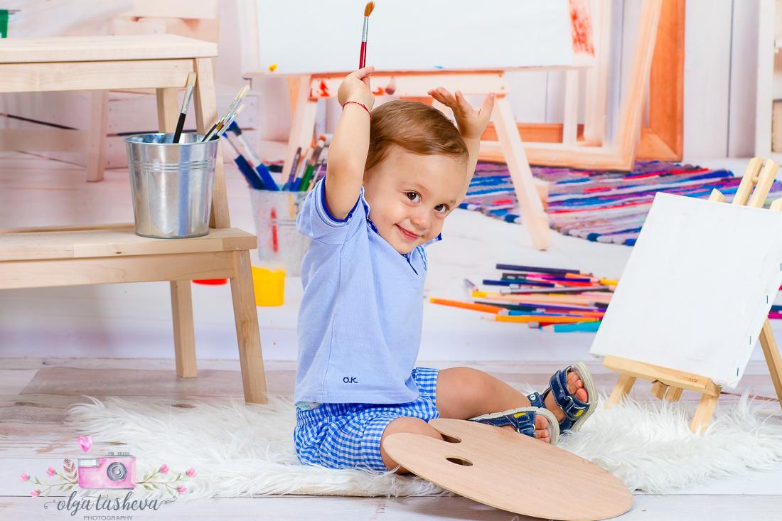 Детски фотограф Варна. Детска фотосесия на Алесио при фотограф Олга Ташева в студио. Бебешка, детска и семейна фотография-2