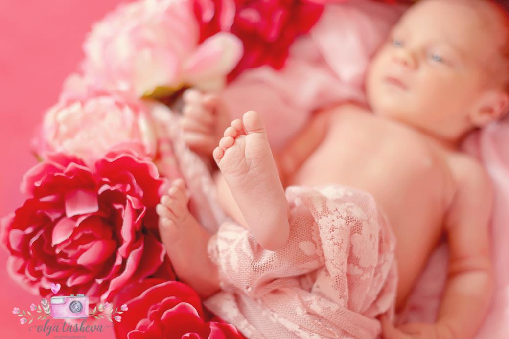 Фотосесия на новородено Адел при фотограф Олга Ташева. Фото студио Варна. Детска, бебешка и семейна фотография-22